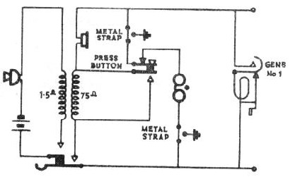 circuit diagram from connections of telephonic apparatus and circuits, pmg  1914