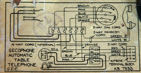 wiring diagram for 332l handset wiring diagram and schematic radio and television collectables in colour black sub type rotary