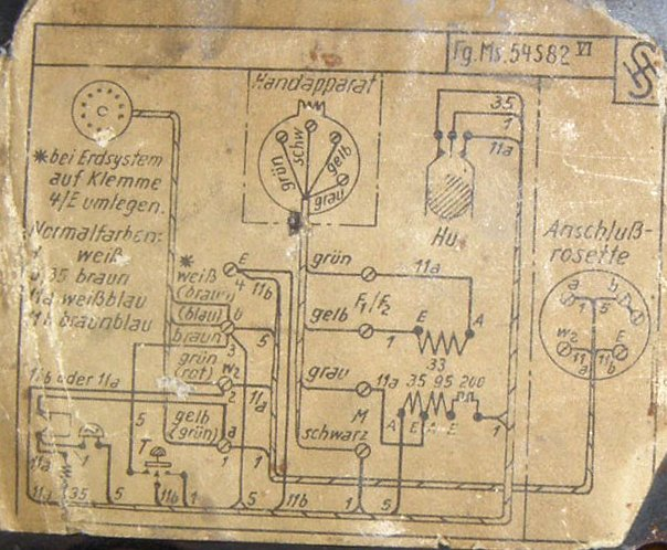 heemaf type 1931 and 1952 (circuit diagram)