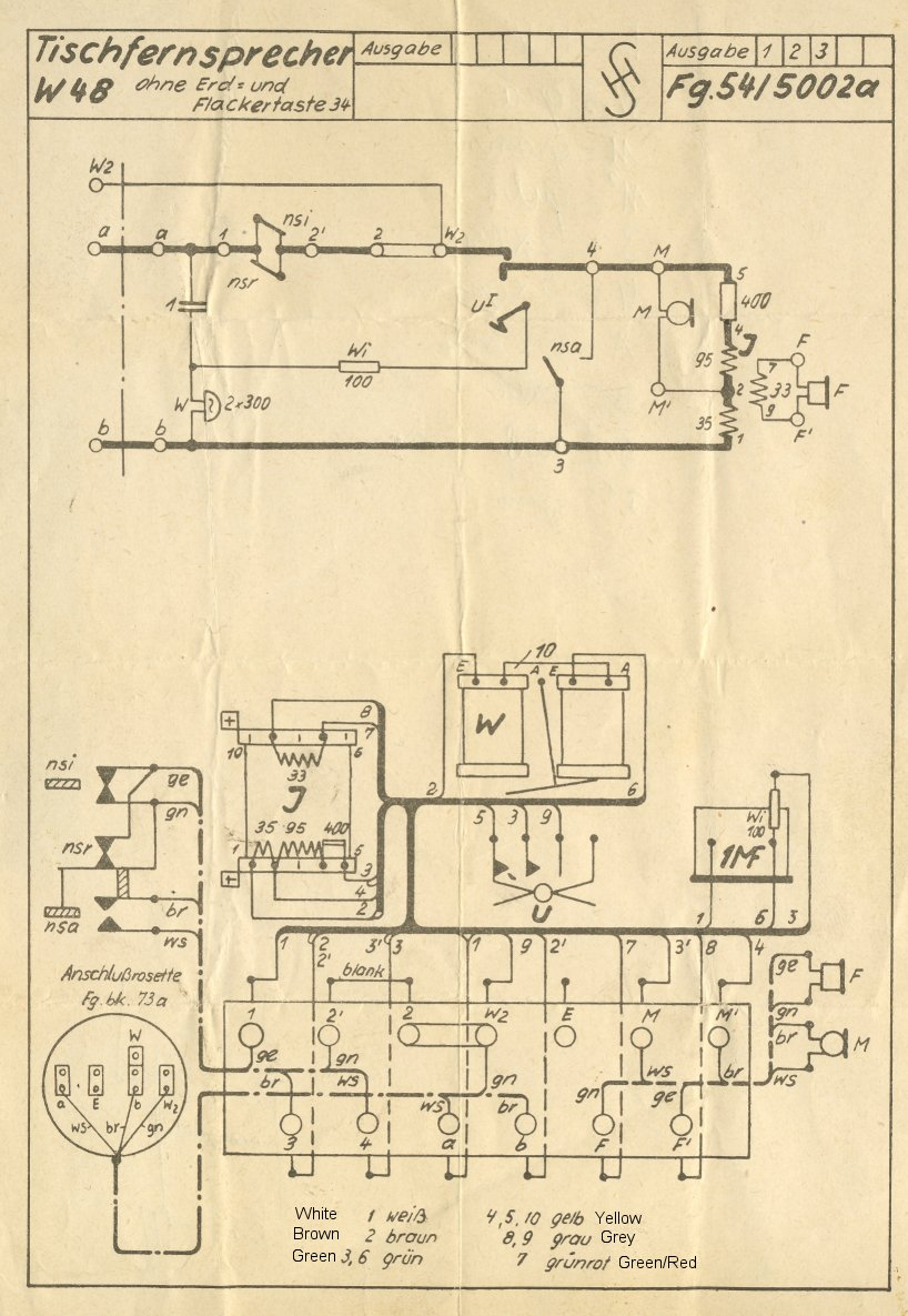 Wiring And Schematic Diagram : Siemens w